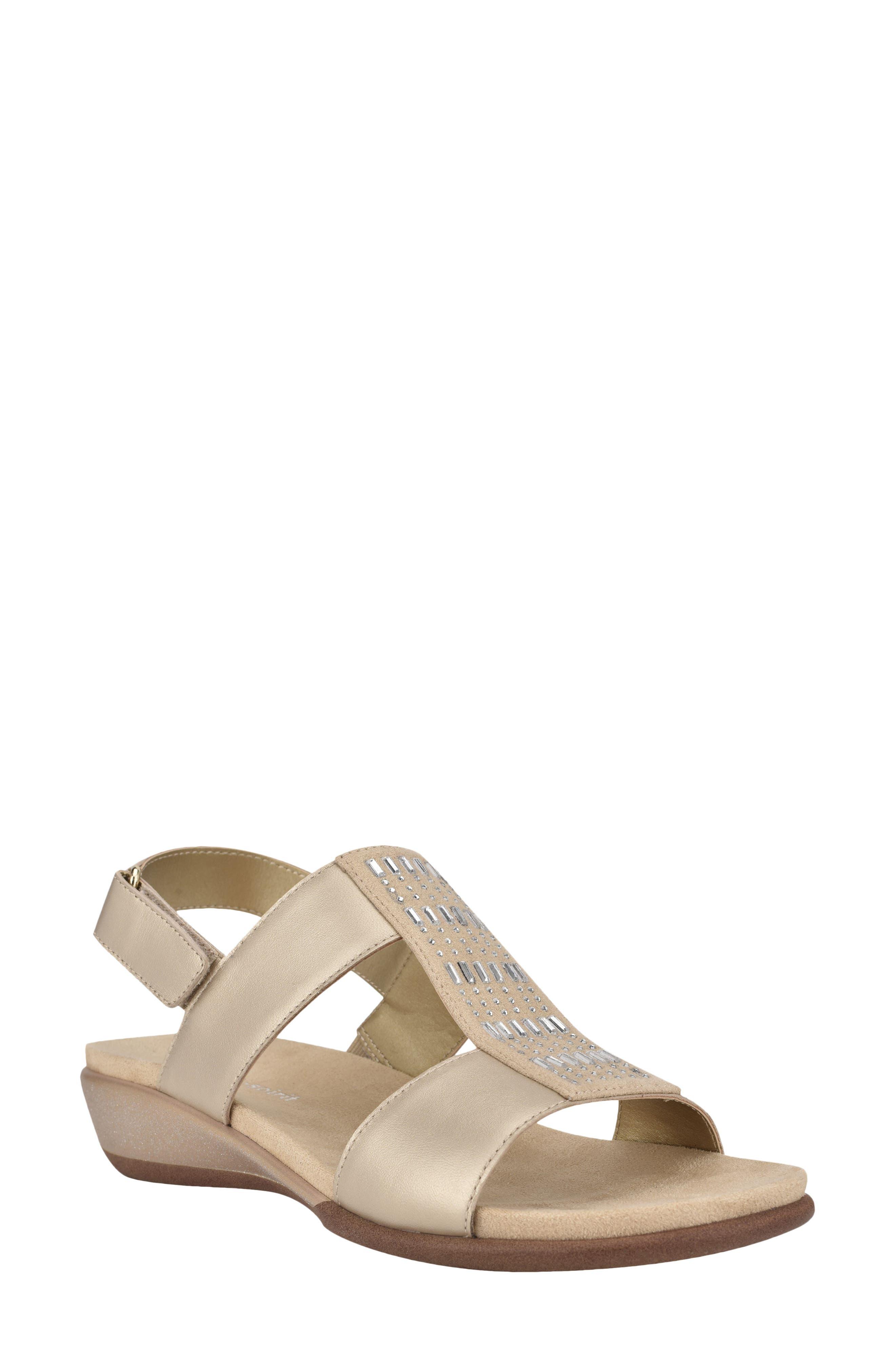 Hazel Beaded T-Strap Sandal