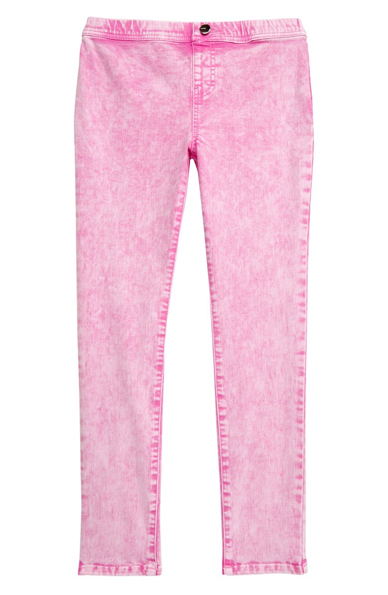 BEBE Denim Pull On Jeans, Main, color, PINK