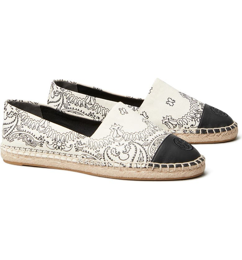 TORY BURCH Colorblock Espadrille Flat, Main, color, 101