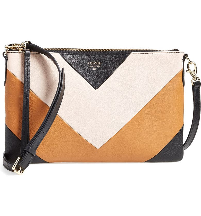 FOSSIL 'Sydney' Top Zip Leather Crossbody Bag, Main, color, 200