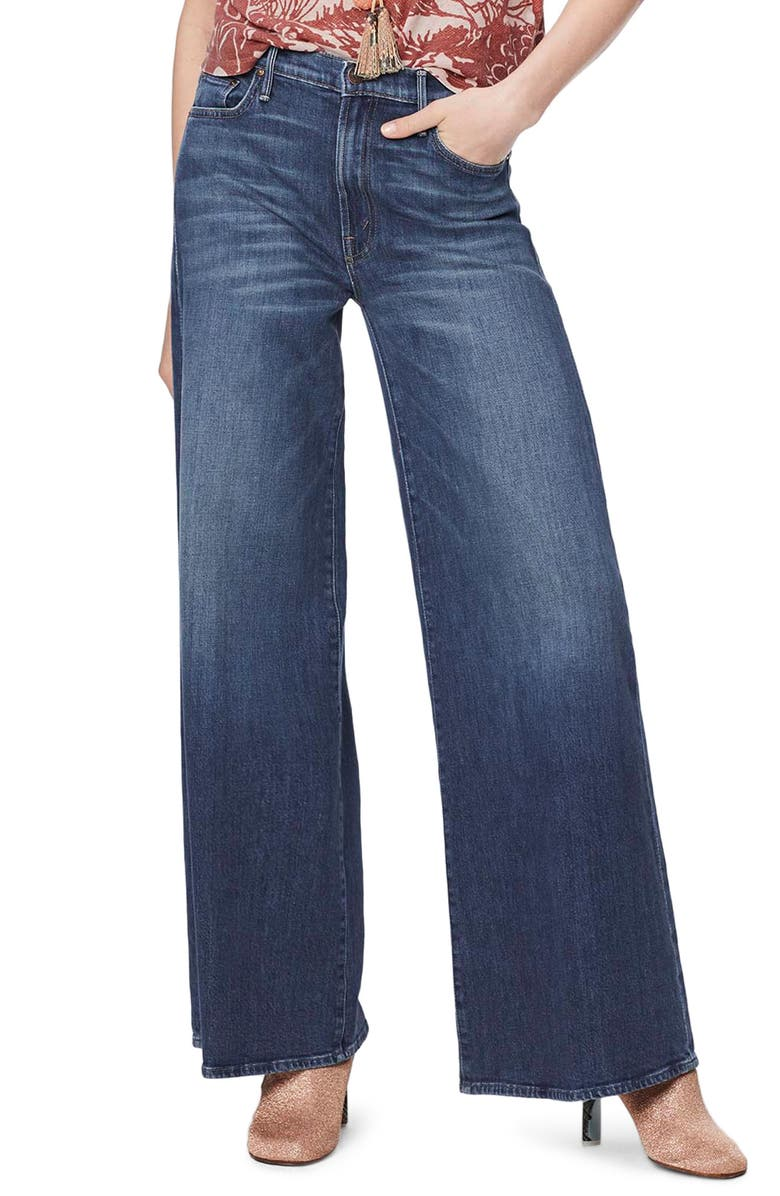 MOTHER The Undercover High Waist Wide Leg Jeans, Main, color, JUST ONE SIP