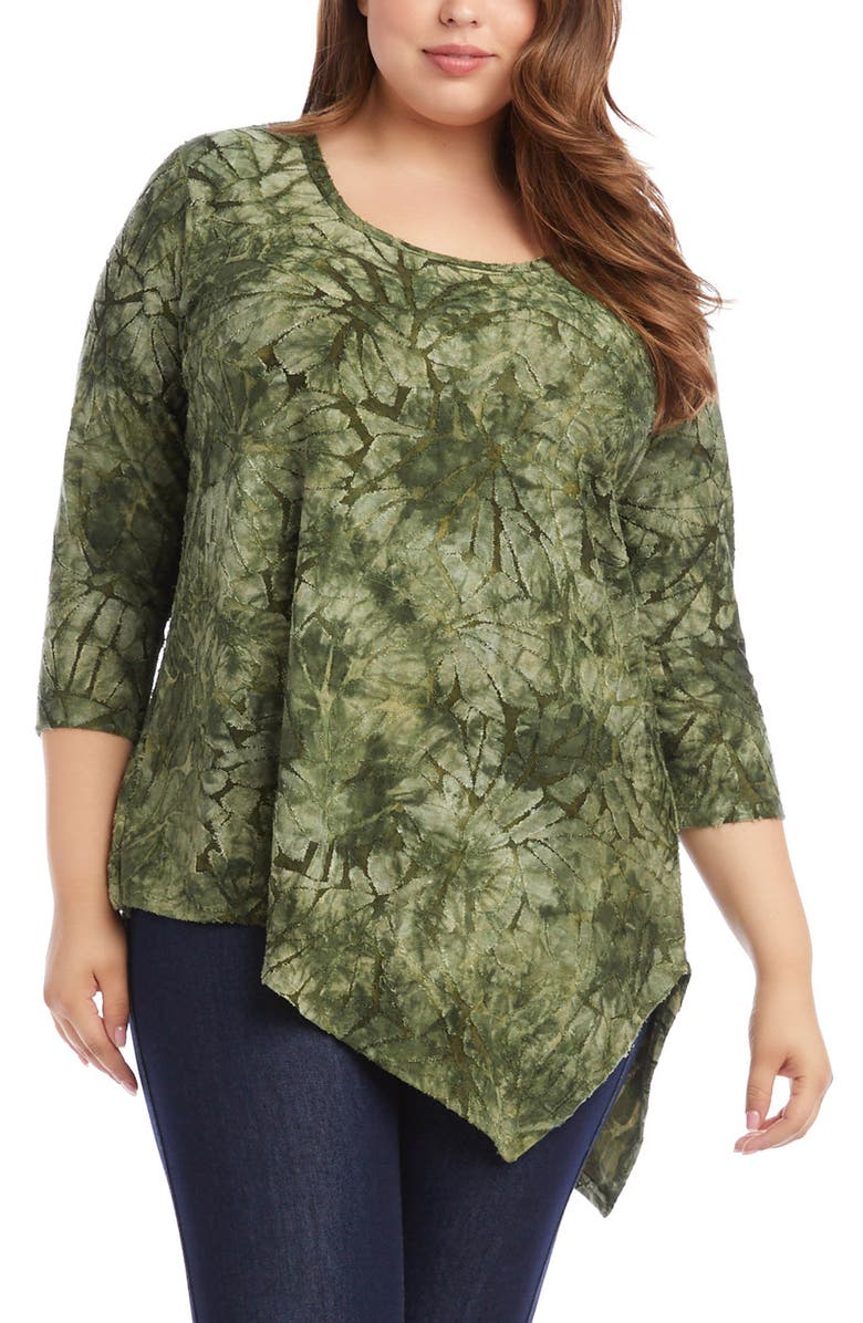 KAREN KANE Asymmetrical Hem Burnout Top, Main, color, 300