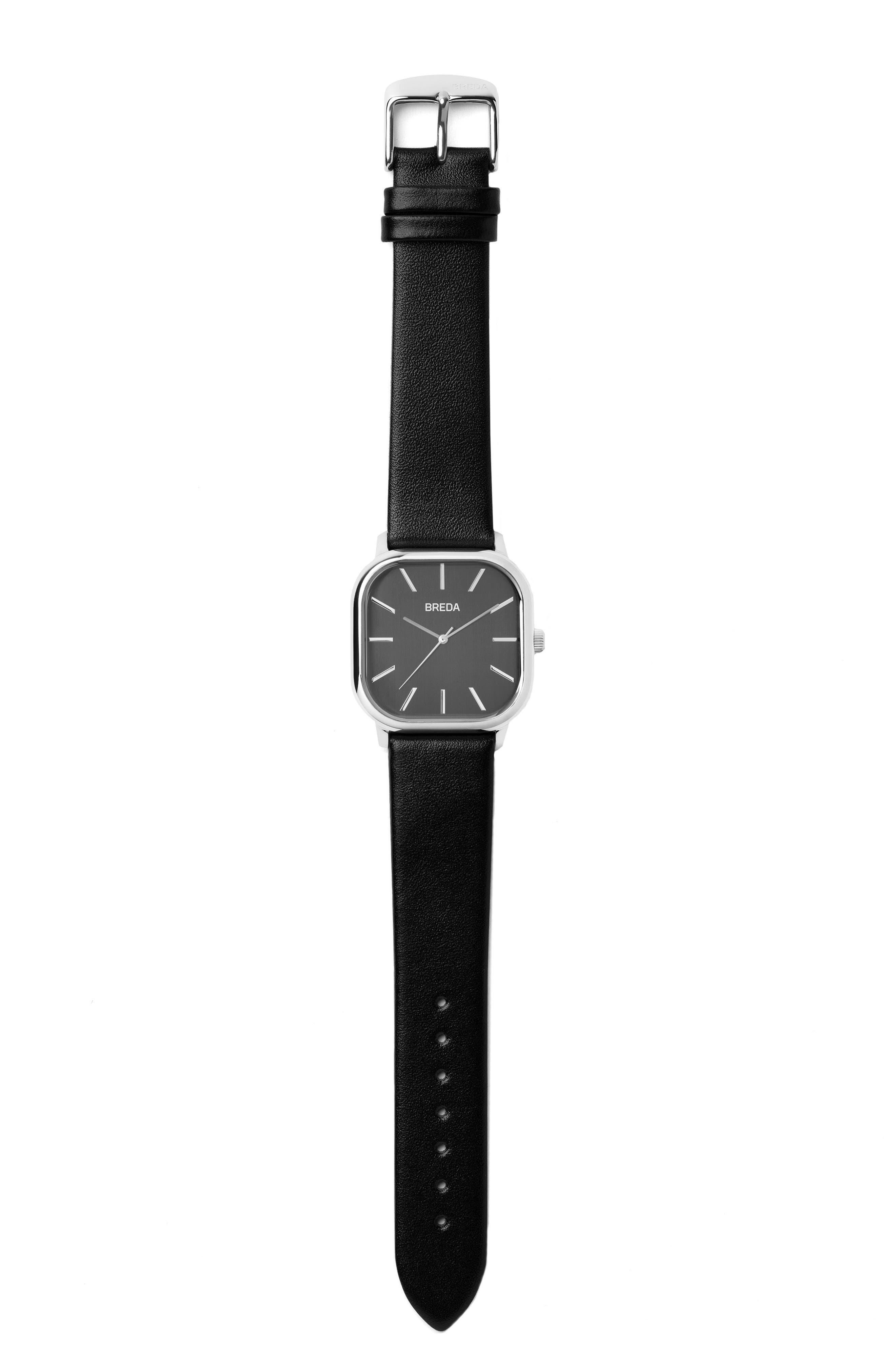 Visser Leather Strap Watch
