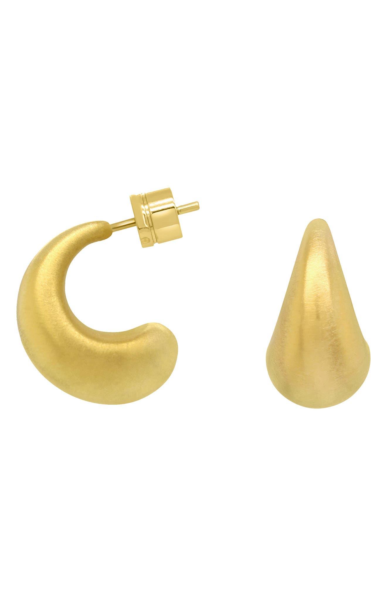 Signature Teardrop Huggie Hoop Earrings