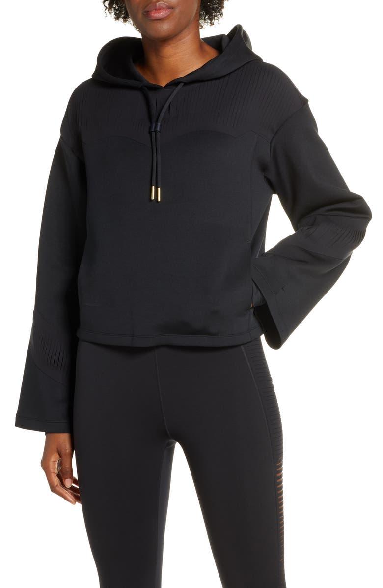 NIKE Boutique Dri-FIT Fringe Hoodie, Main, color, BLACK/ CLEAR