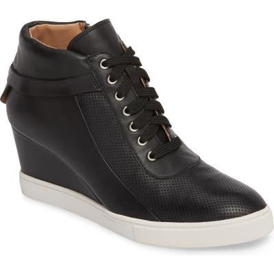 Linea Paolo Freja Wedge Sneaker, Black