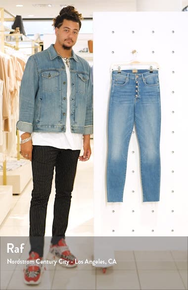 The Fly Cut Stunner High Waist Fray Ankle Skinny Jeans, sales video thumbnail