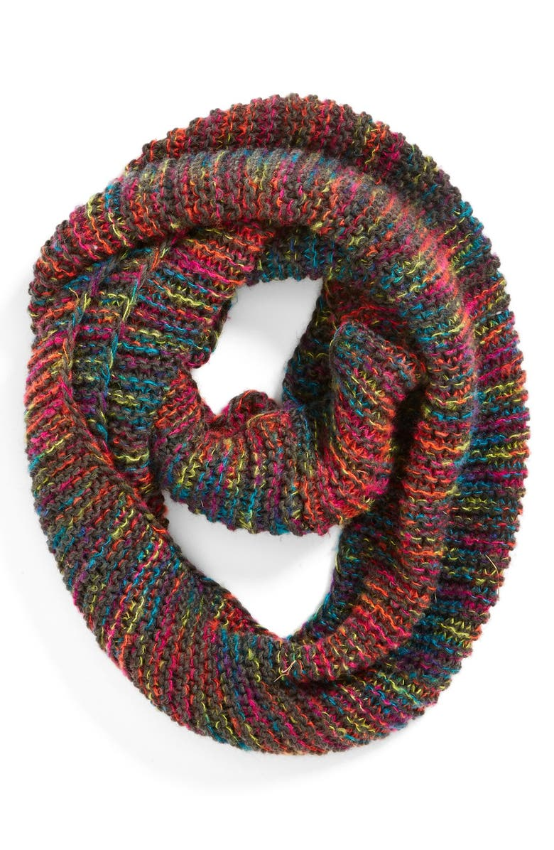 BP. Marled Stripe Knit Infinity Scarf, Main, color, 020