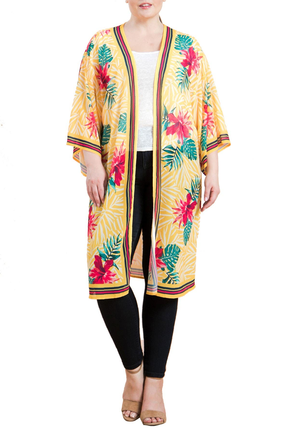 Image of Jealous Tomato Tropical Print Duster