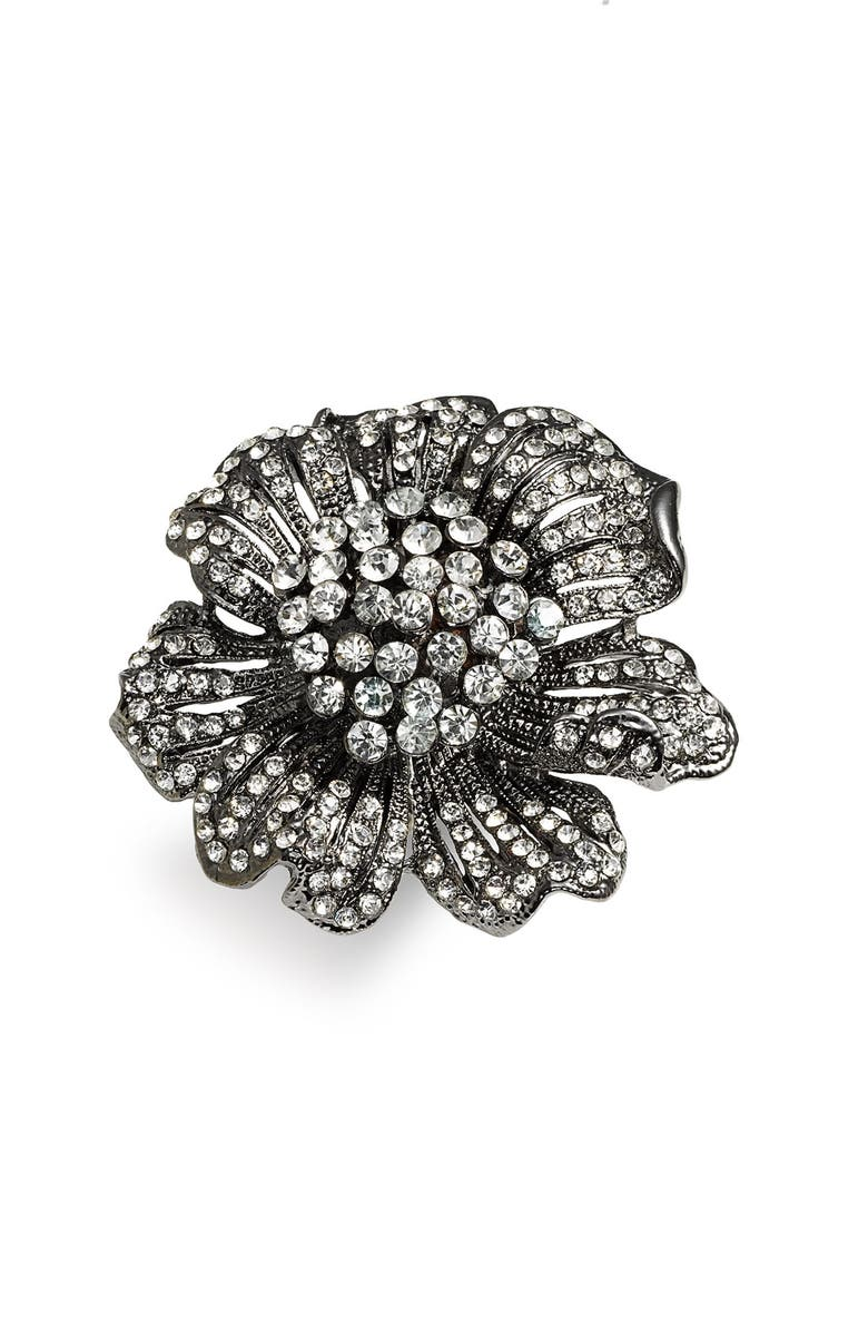 CARA Accessories 'Critters' Large Flower Stretch Ring, Main, color, 001