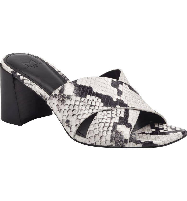 MARC FISHER LTD Saydi Slide Sandal, Main, color, GREY SNAKE PRINT