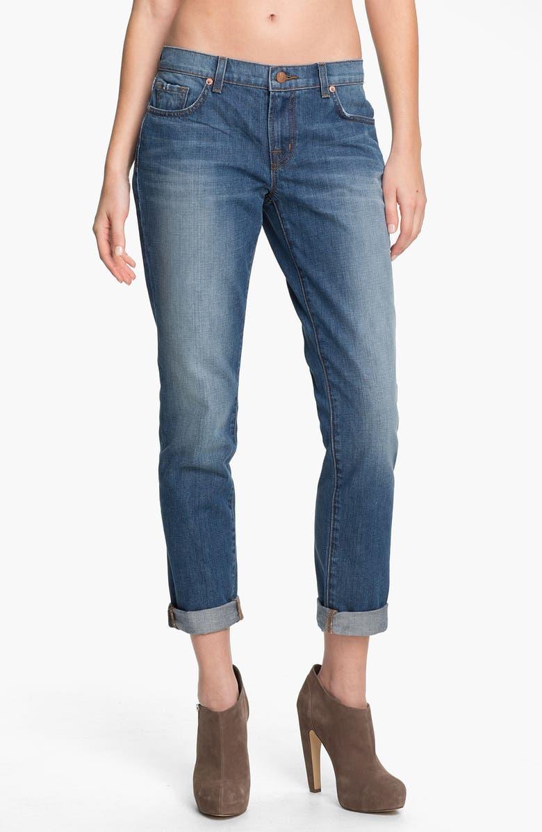 J BRAND 'Aidan' Distressed Boyfriend Fit Jeans, Main, color, 421