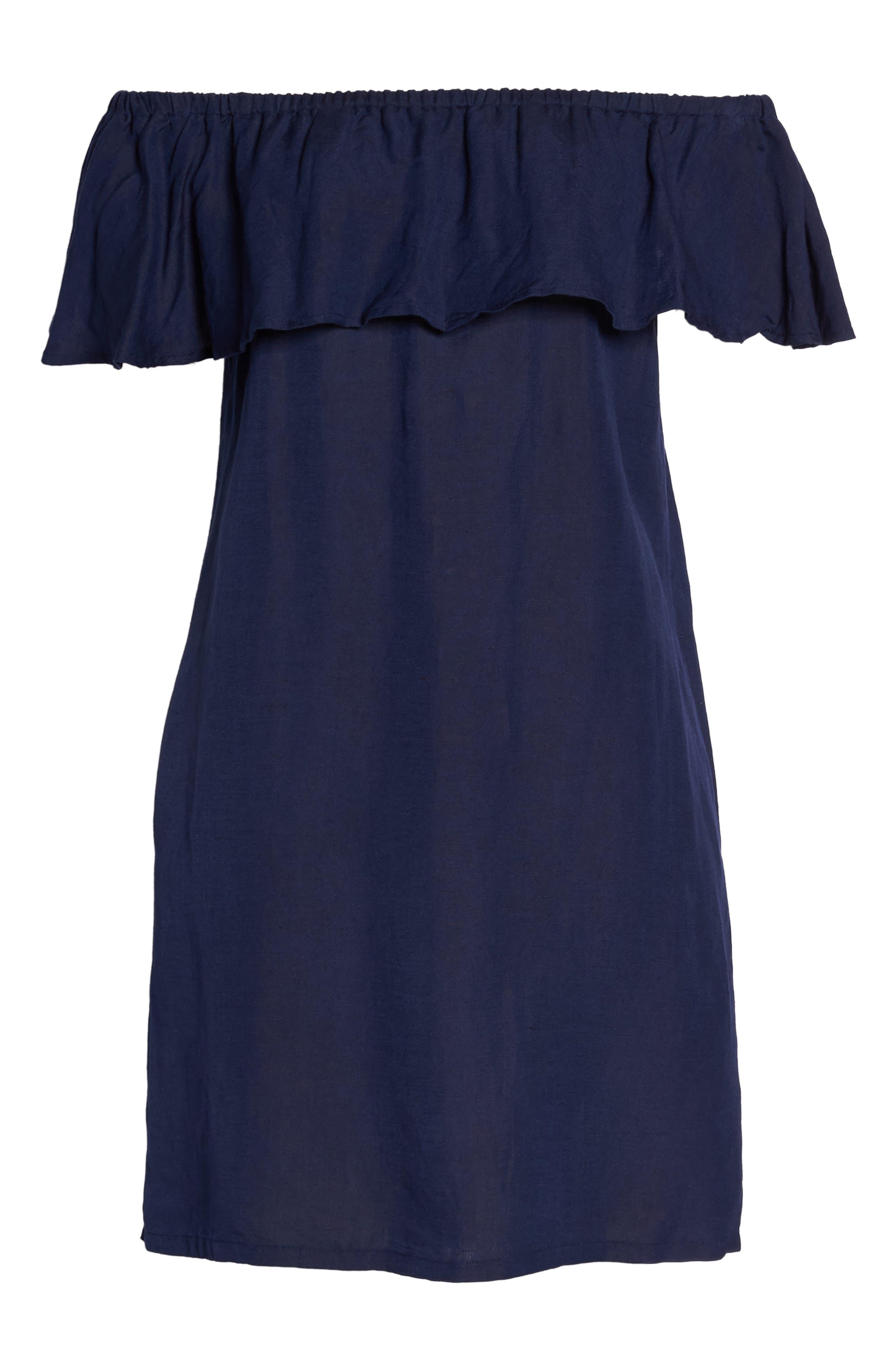 ,                             Off the Shoulder Cover-Up Dress,                             Alternate thumbnail 19, color,                             400