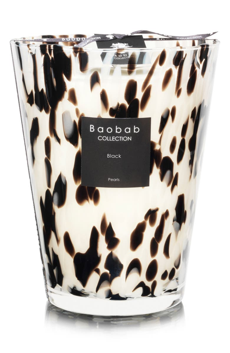 BAOBAB COLLECTION Black Pearls Candle, Main, color, BLACK- LARGE