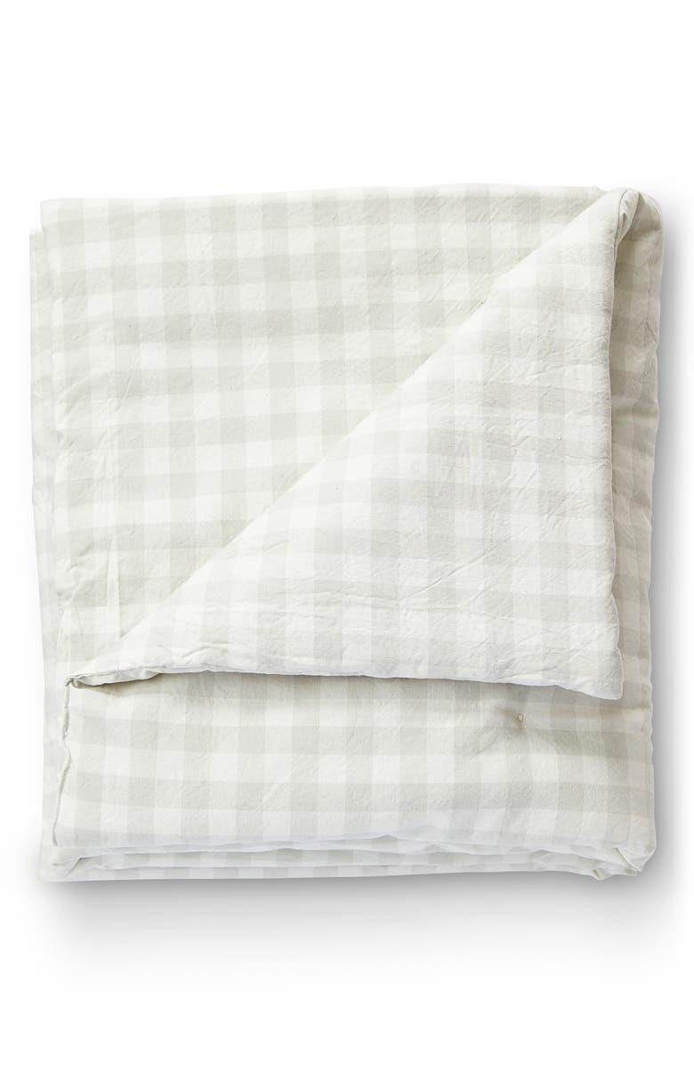 PEHR CheckMate Organic Cotton Toddler Blanket, Main, color, FOG GREY