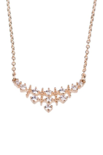 Image of CZ By Kenneth Jay Lane 14K Rose Gold Plated Round-Cut CZ Pendant Necklace