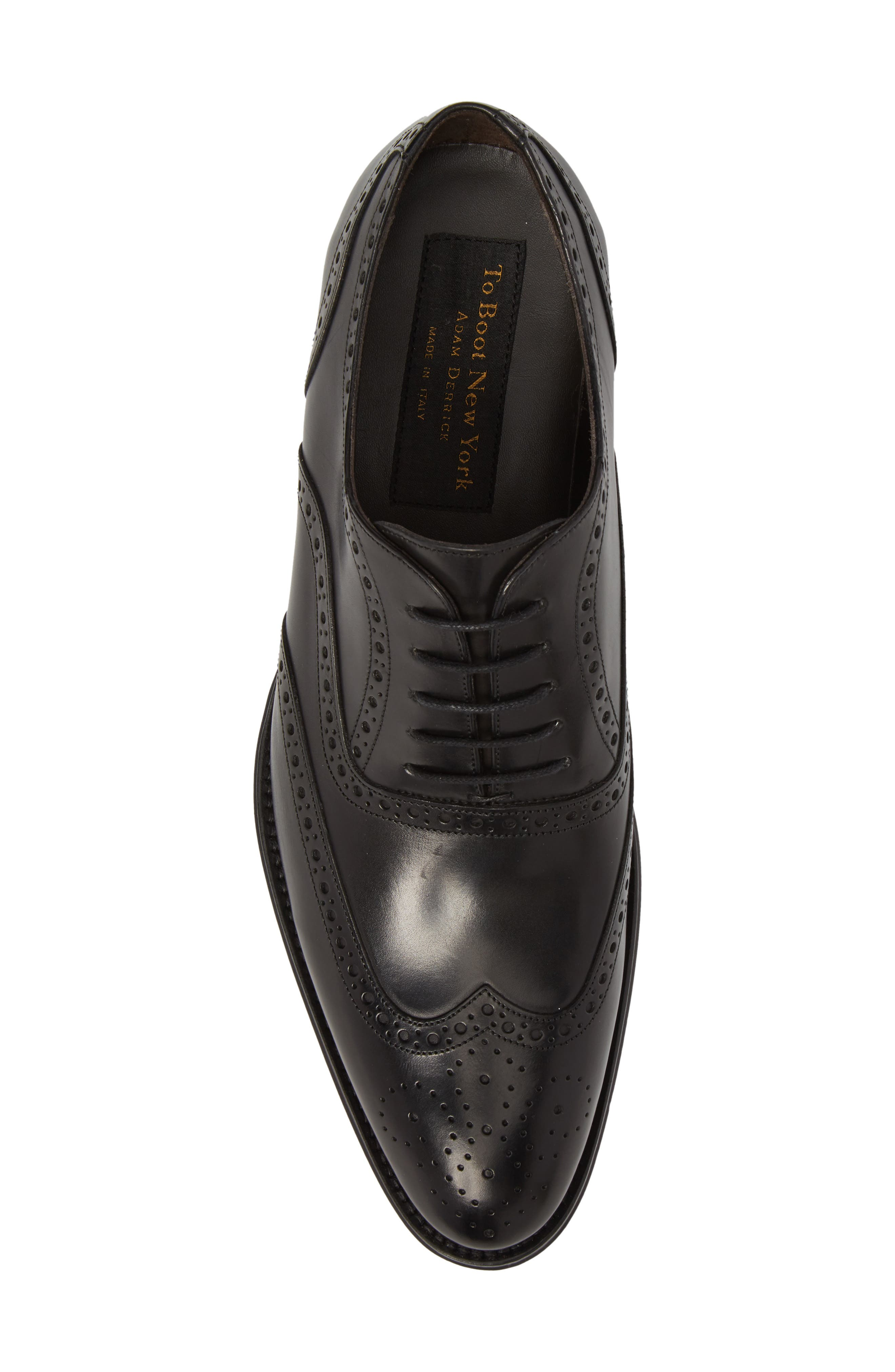 ,                             Milton Wingtip Oxford,                             Alternate thumbnail 5, color,                             BLACK LEATHER