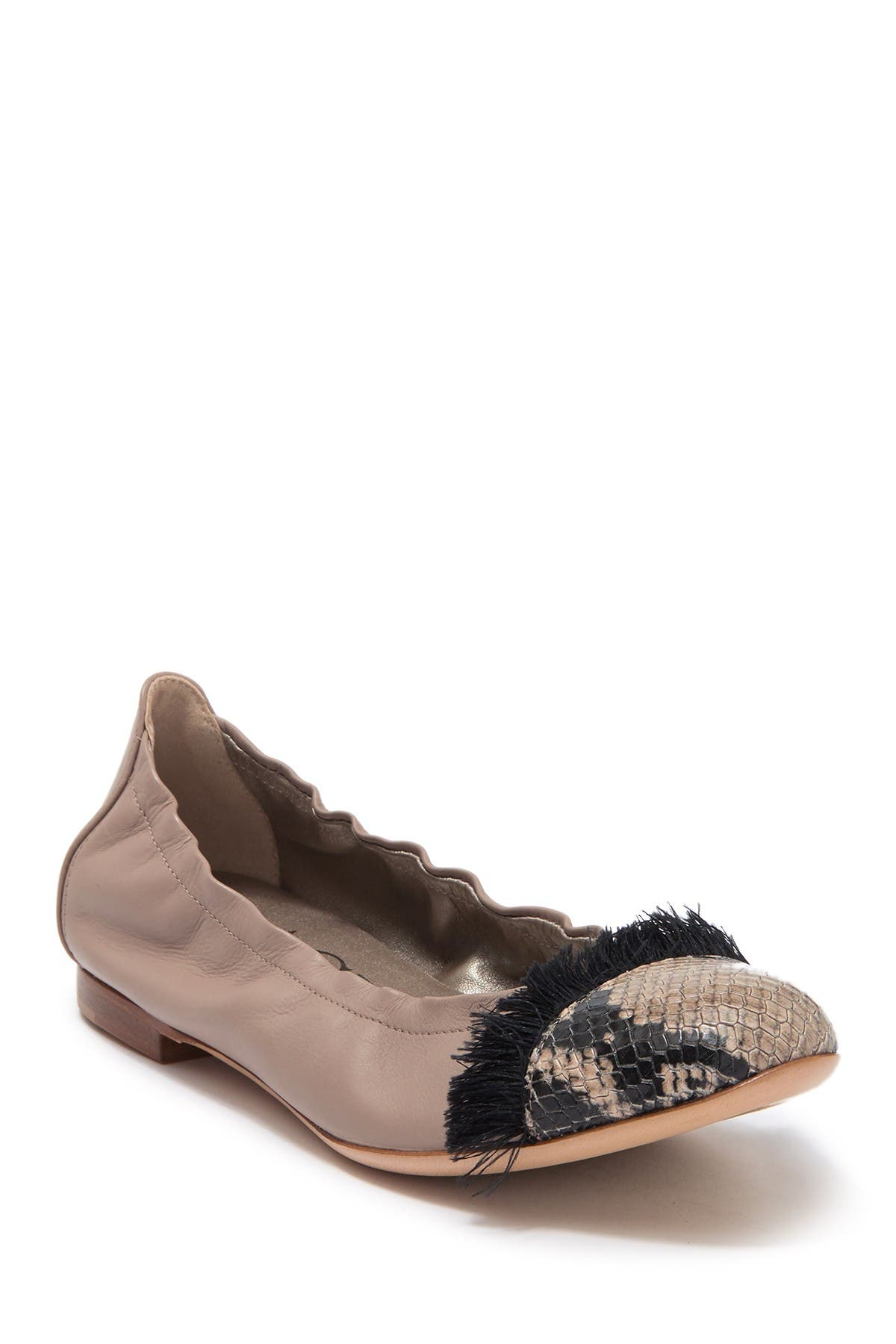 Image of AGL Cap Toe Tassel Trim Ballet Flat