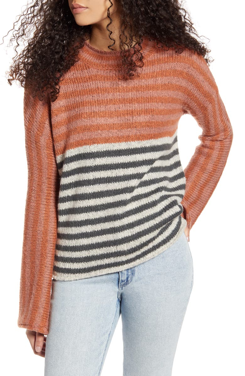 RIP CURL Fall Back Stripe Sweater, Main, color, 800