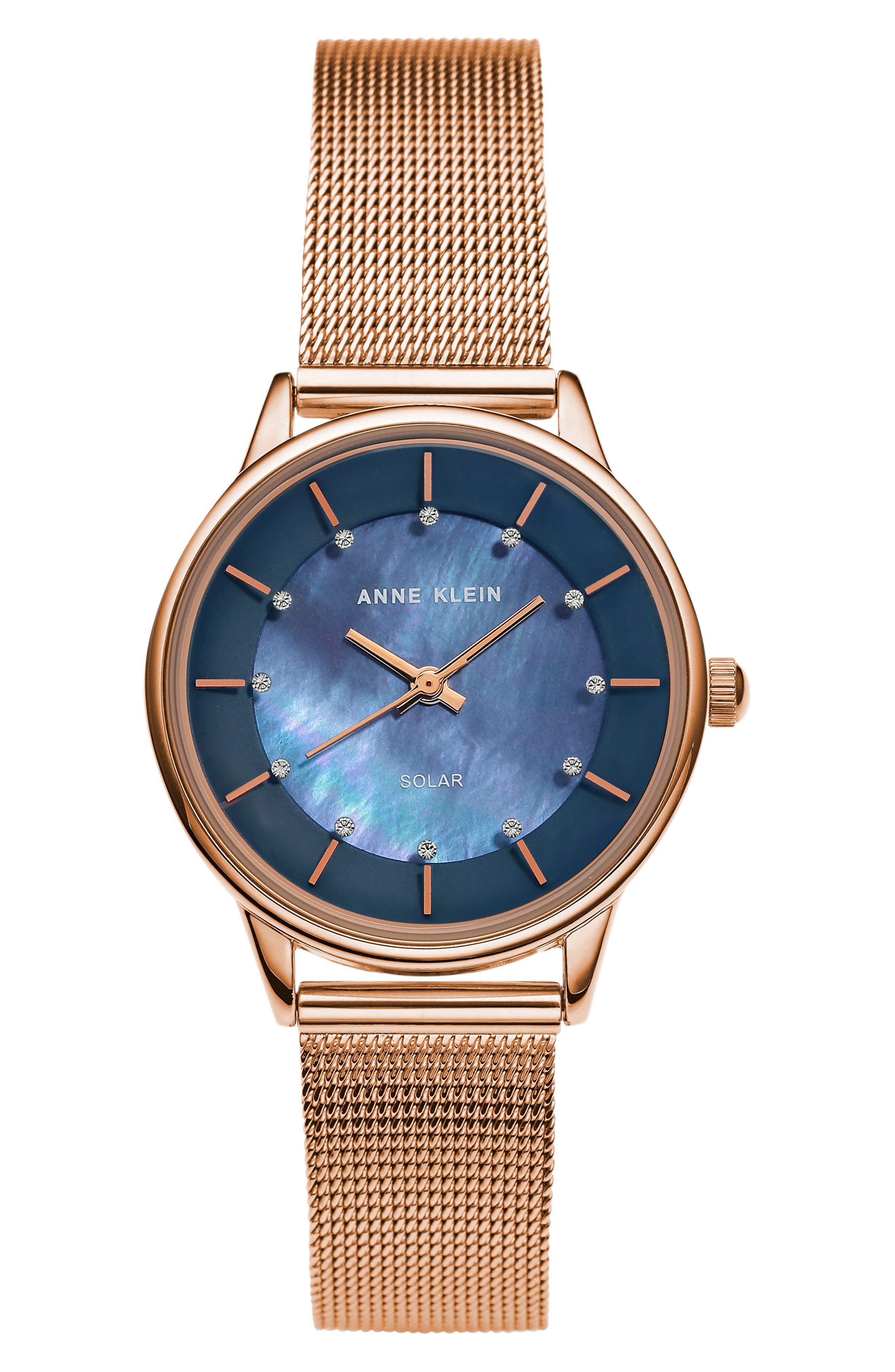 Solar Mesh Strap Watch