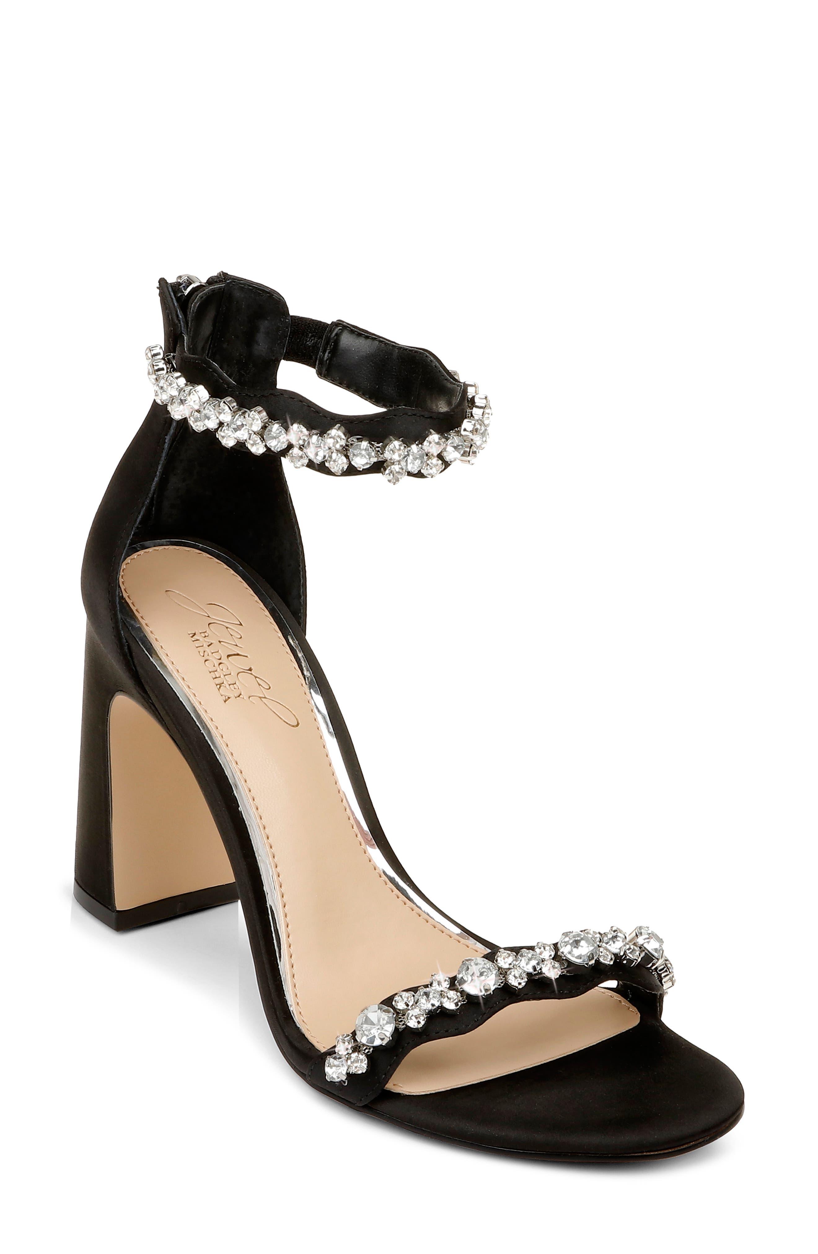Odessa Crystal Block Heel Sandal