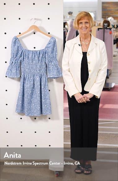 Shirred Floral Minidress, sales video thumbnail