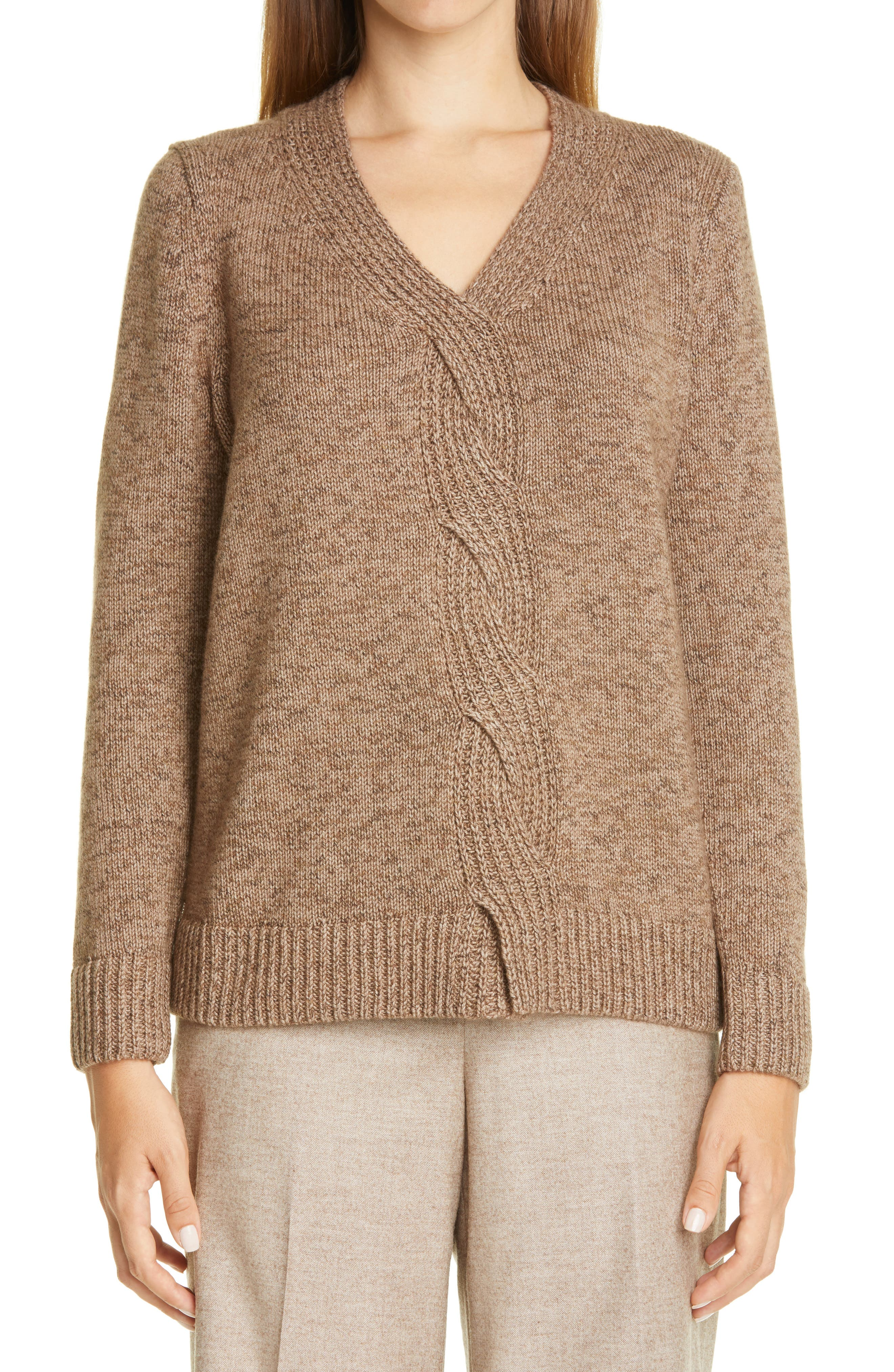 Image of Lafayette 148 New York Braided Cable Cashmere & Silk Sweater