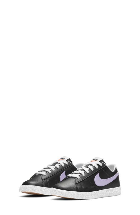 Nike Blazer Low Big Kids' Shoe In Off Noir/ Black/ Camellia