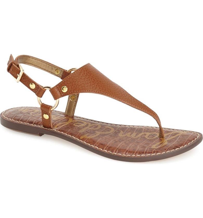 SAM EDELMAN Greta Sandal, Main, color, SOFT SADDLE LEATHER