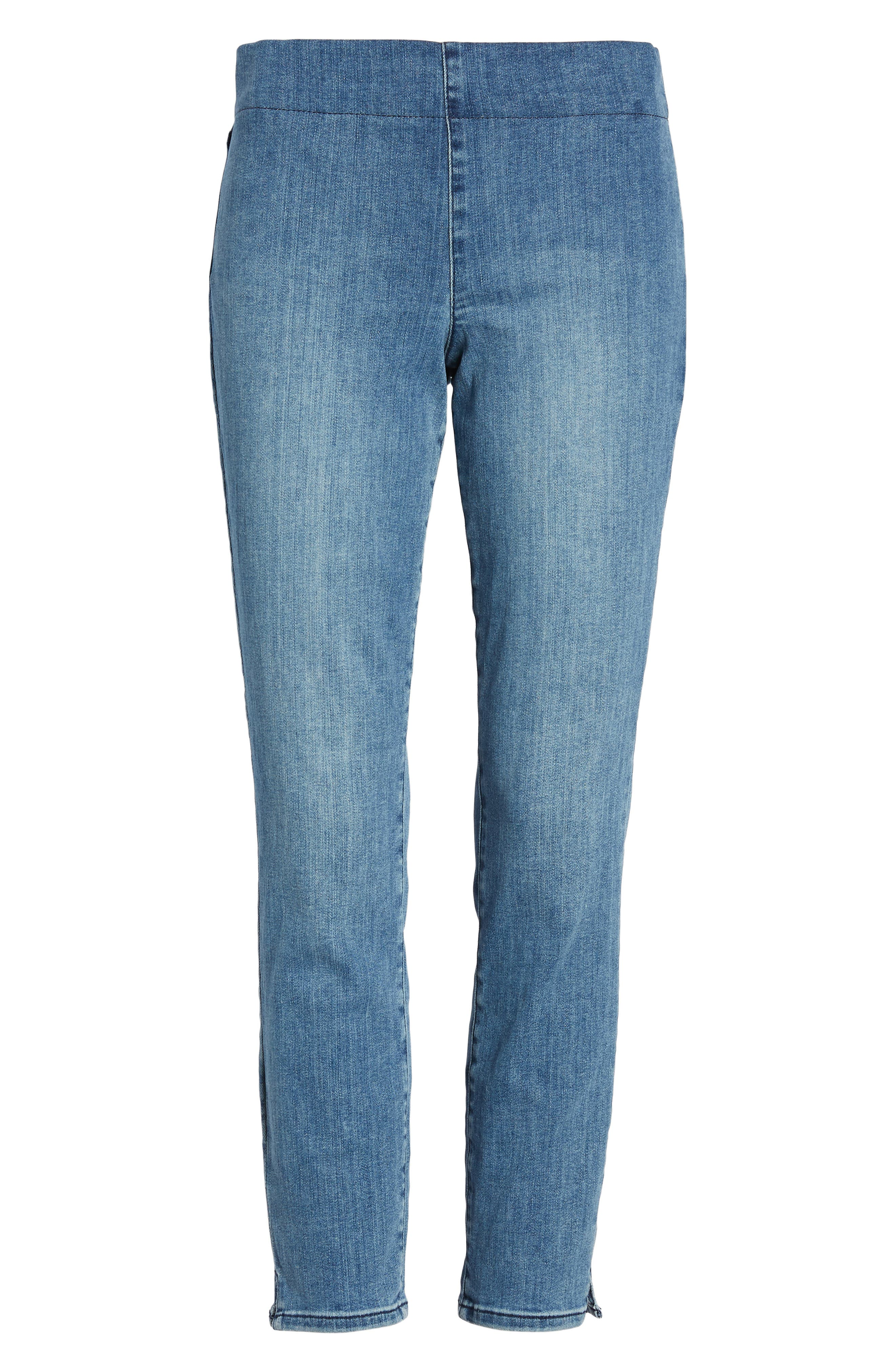 ,                             Alina Pull-On Ankle Skinny Jeans,                             Alternate thumbnail 7, color,                             AQUINO