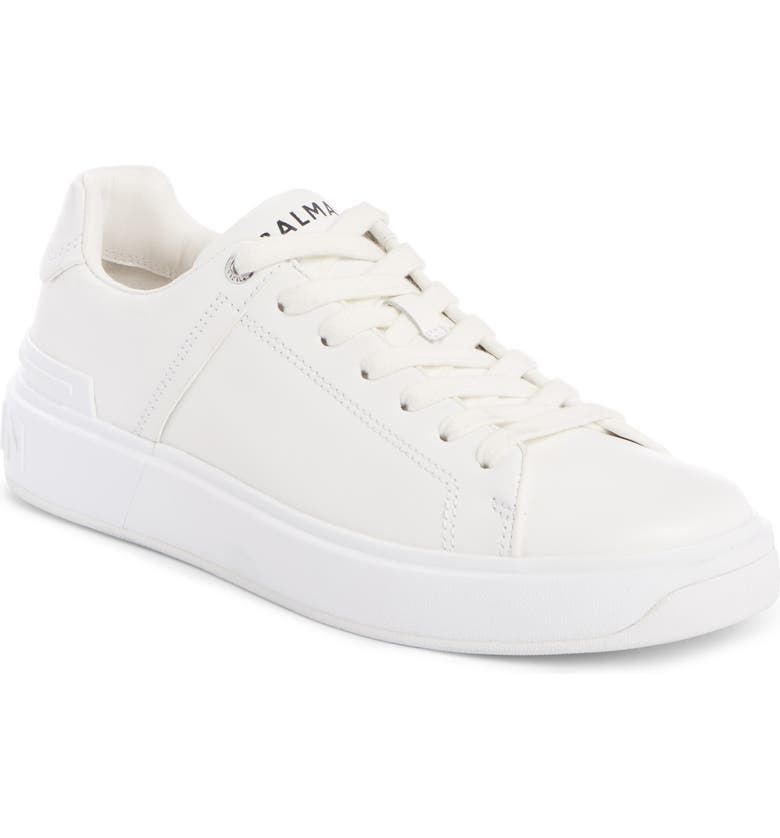 BALMAIN B-Court Sneaker, Main, color, WHITE