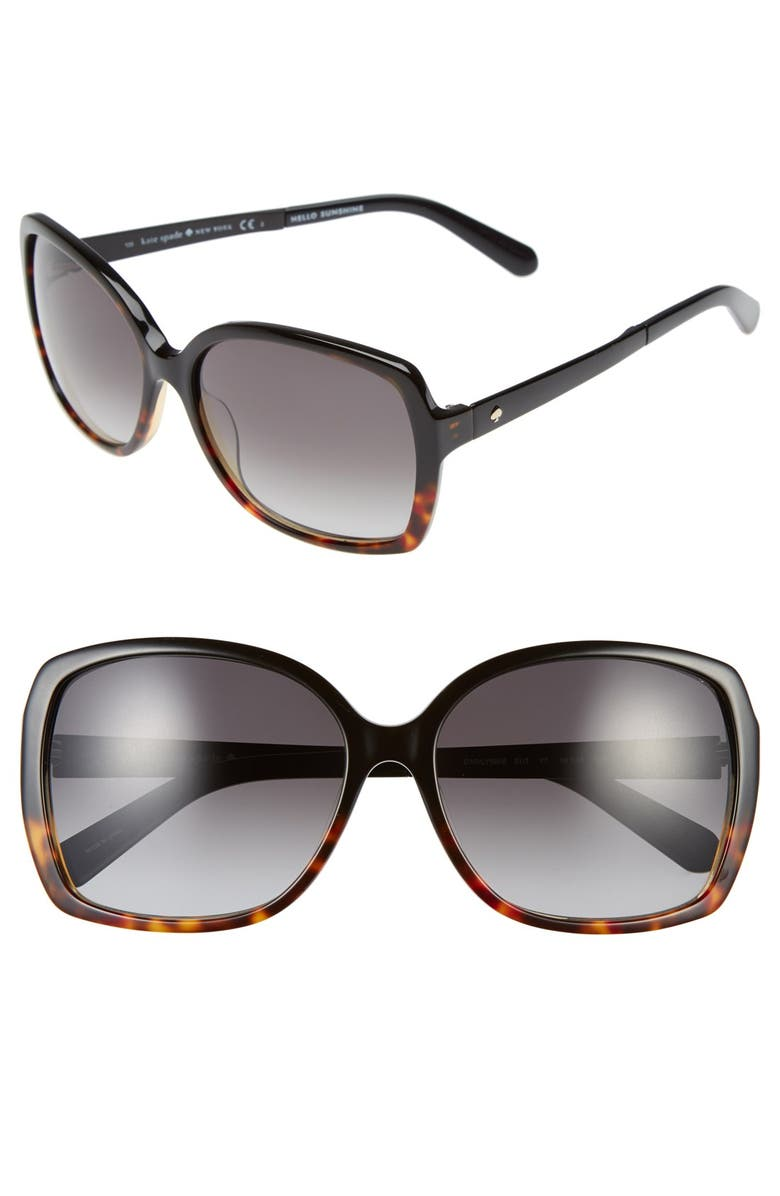 KATE SPADE NEW YORK 'darrilyn' 58mm butterfly sunglasses, Main, color, 001
