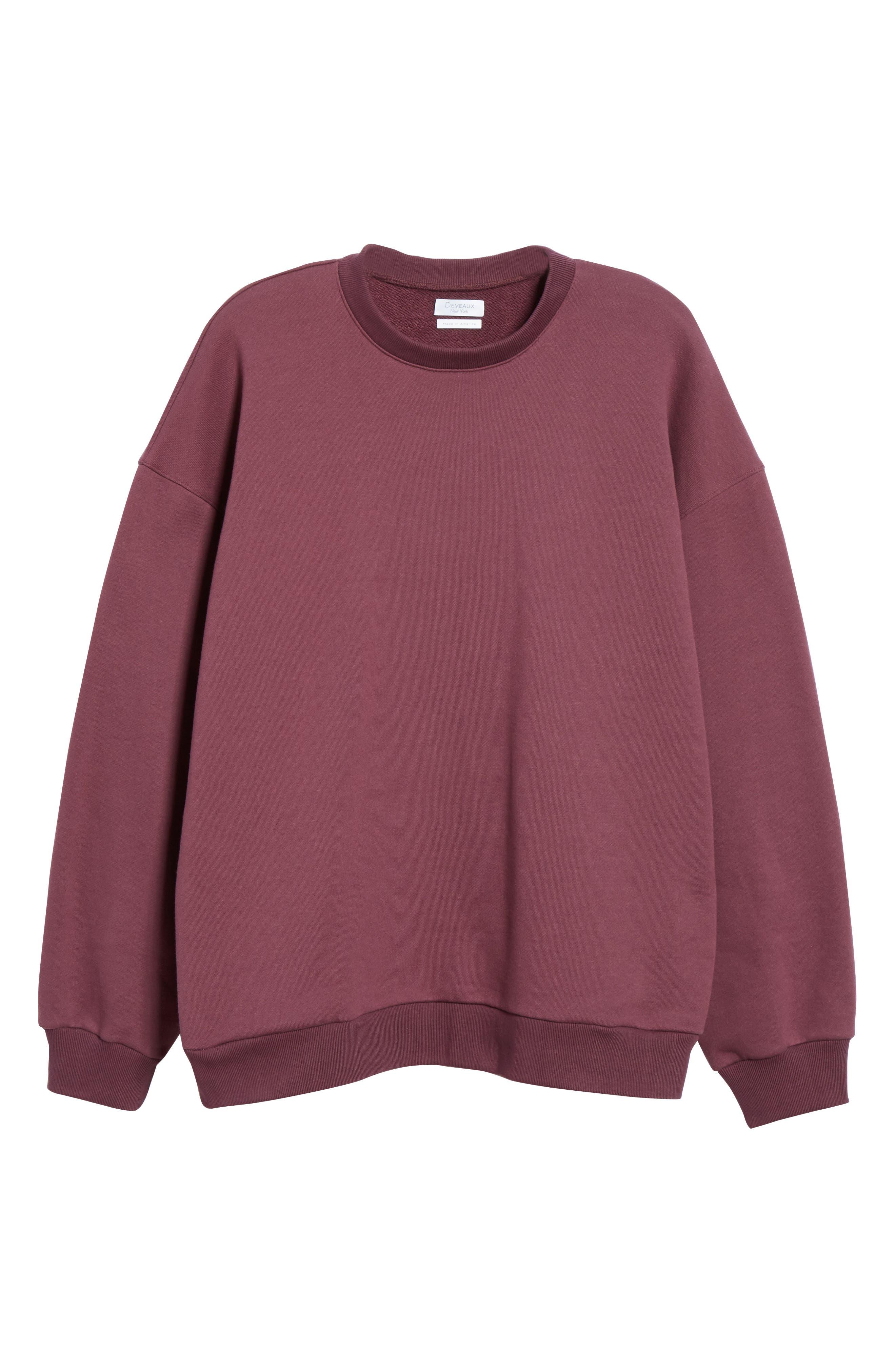 ,                             Oversize Crewneck Sweatshirt,                             Alternate thumbnail 12, color,                             930