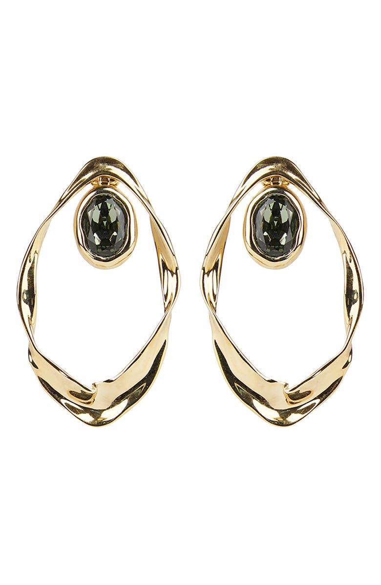 ALEXIS BITTAR Future Antiquity Crumpled Orbit Earrings, Main, color, GOLD