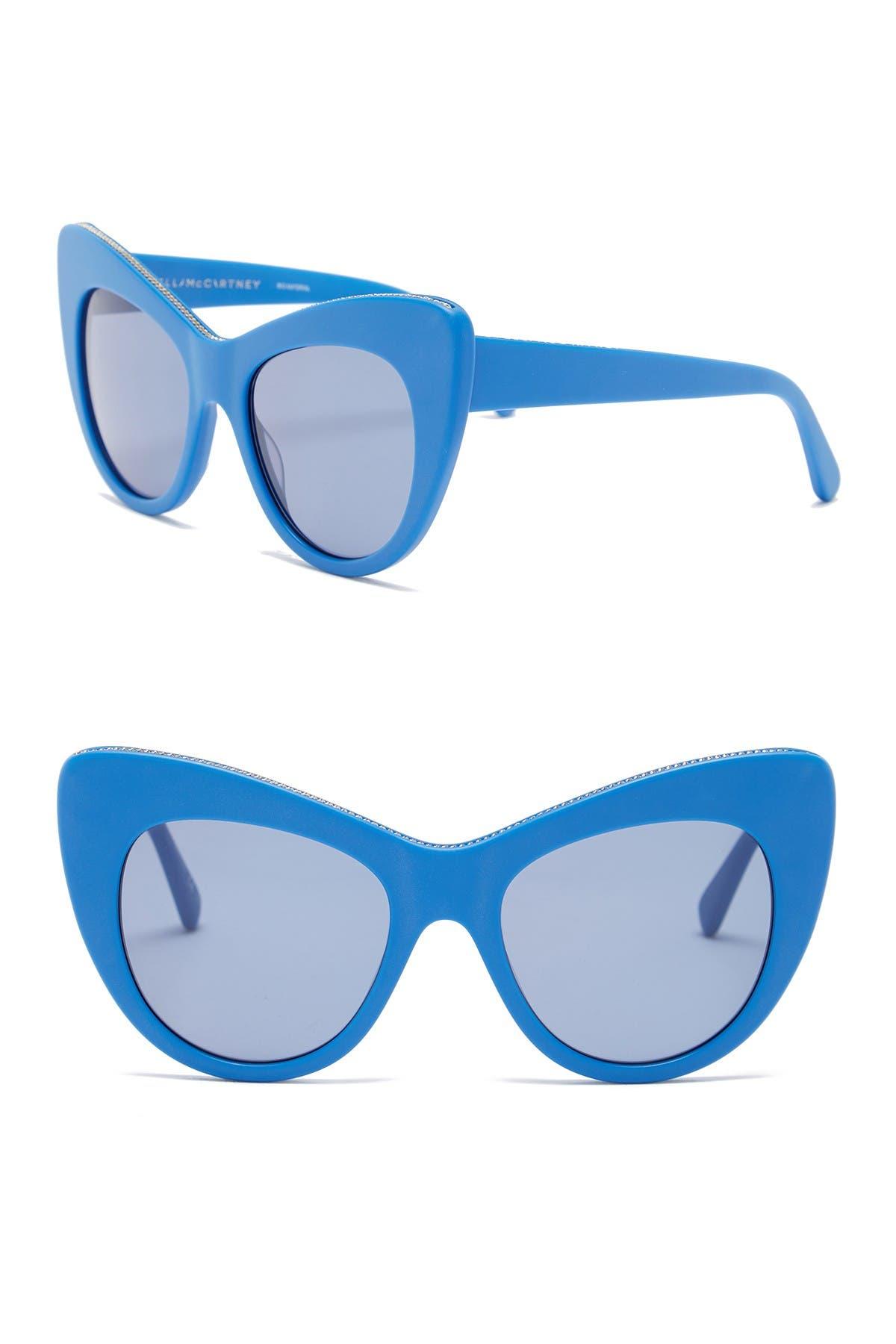 Image of Stella McCartney 53mm Cat Eye Sunglasses