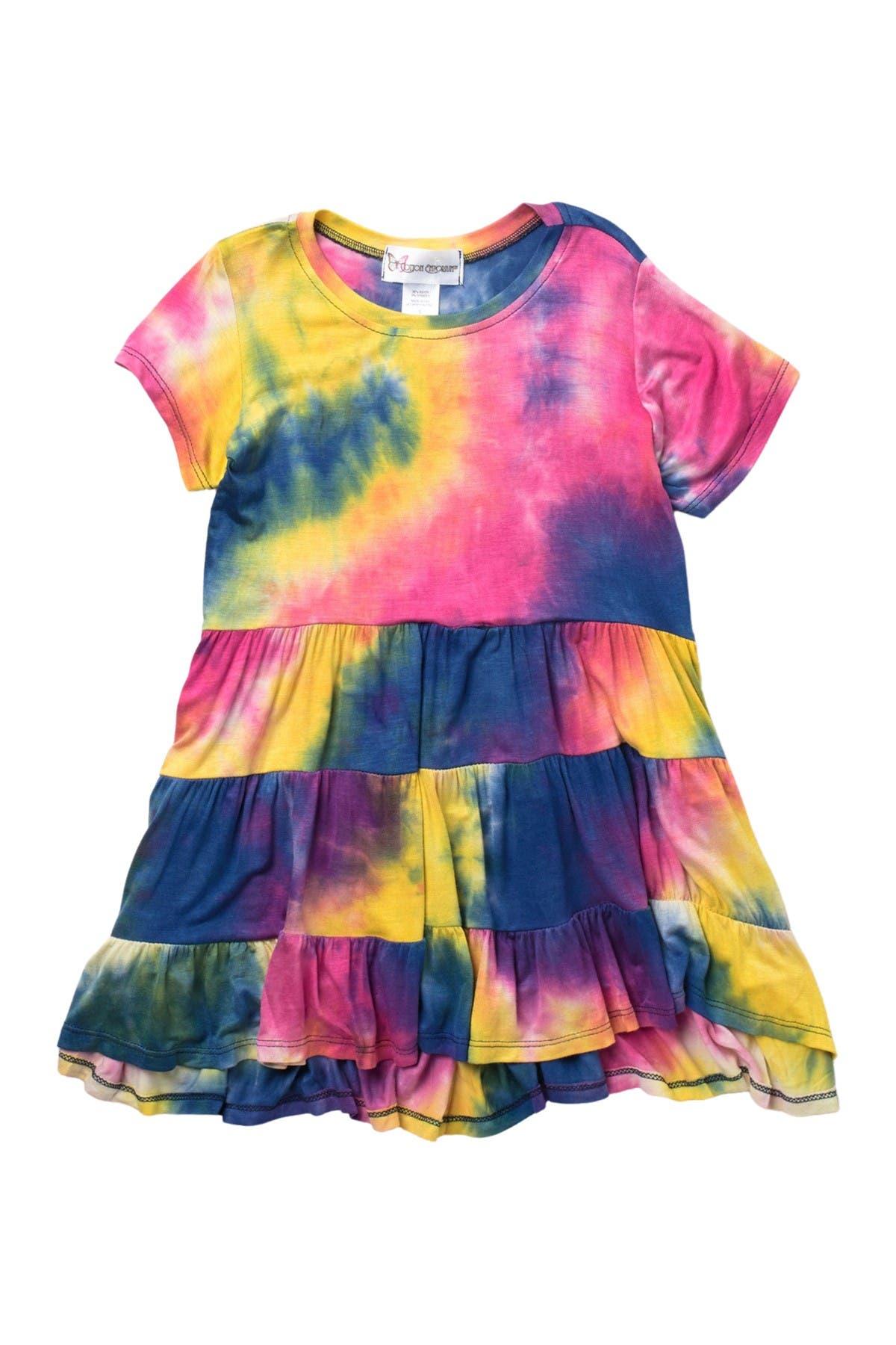 Image of Cotton Emporium Short Sleeve Tiered Jersey Dress