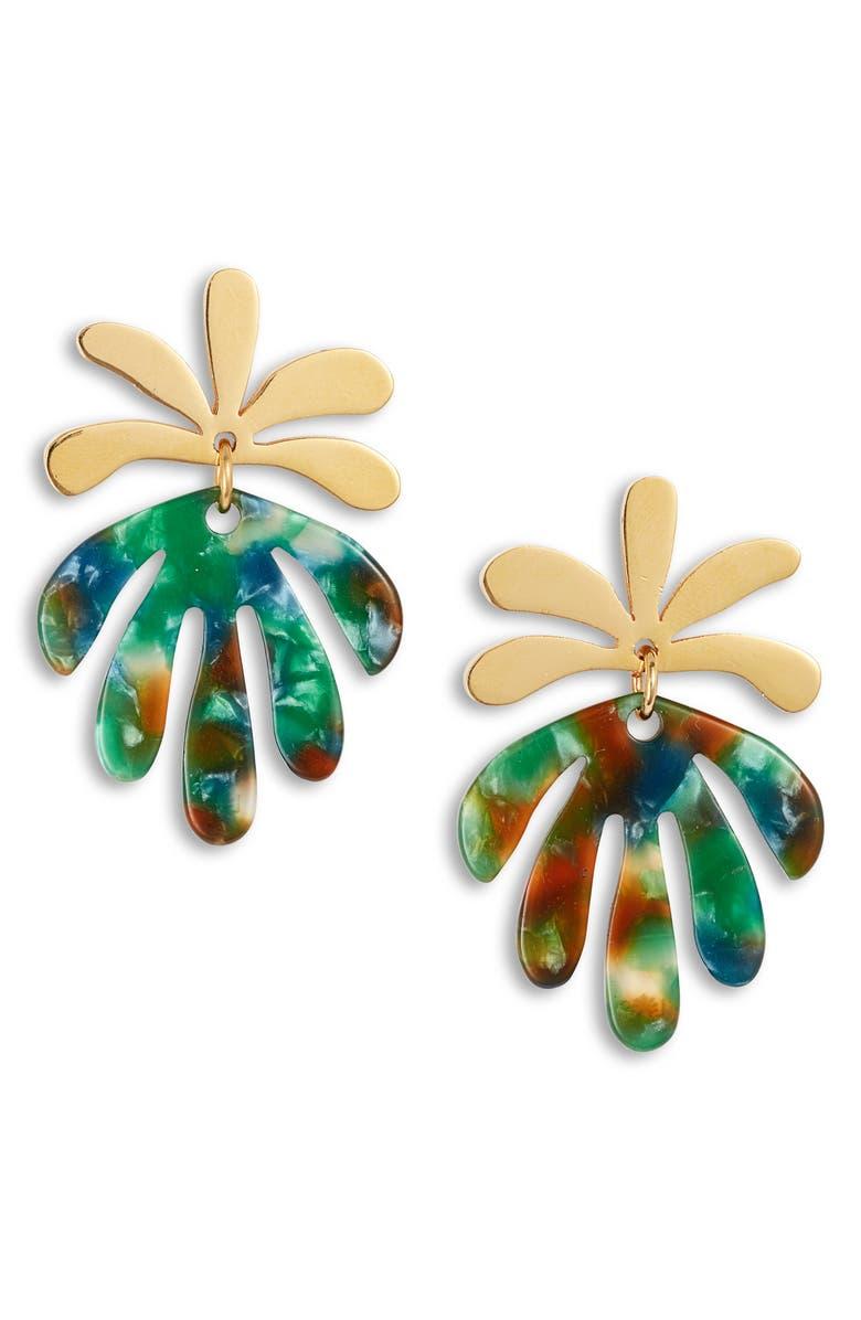 LELE SADOUGHI Vine Drop Earrings, Main, color, LAUREL GREEN