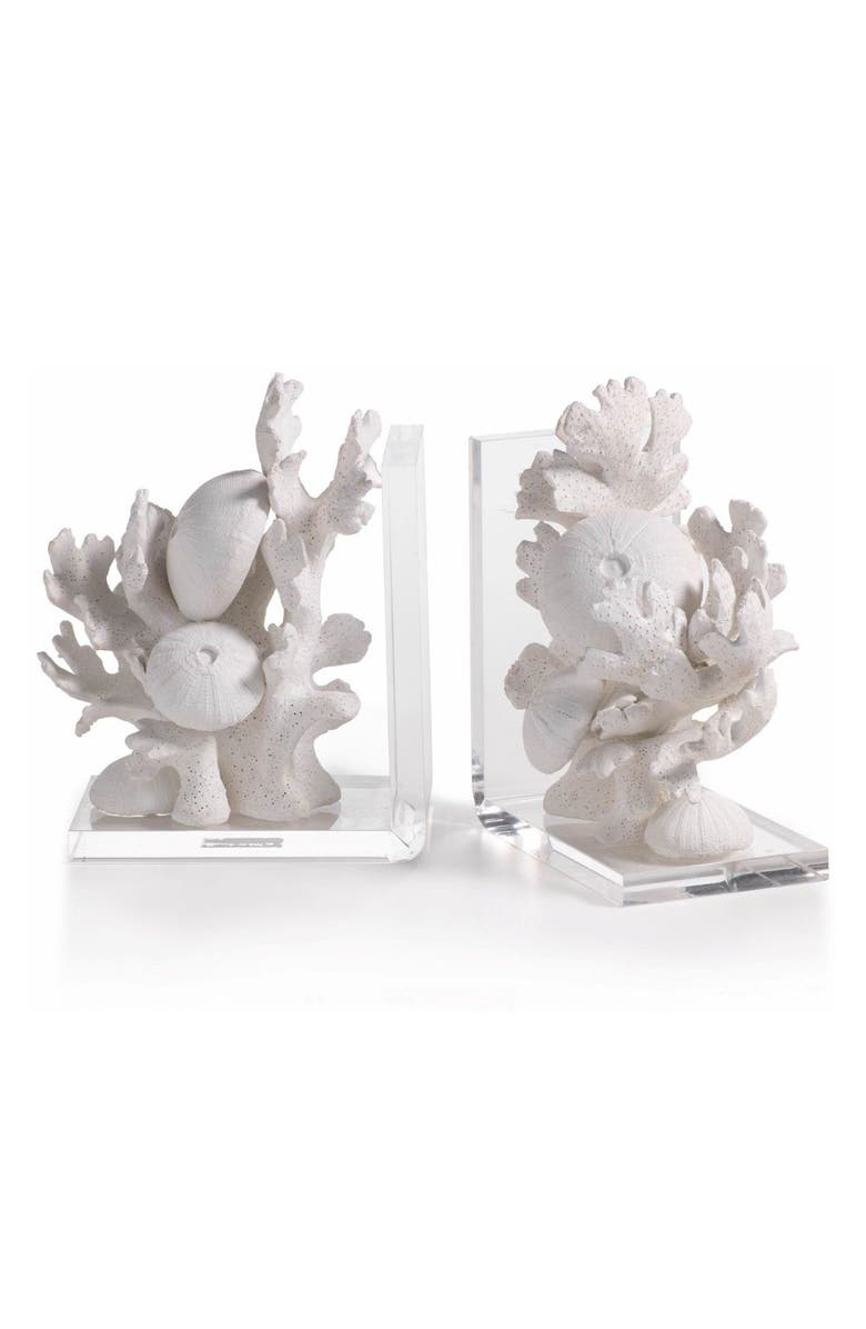 ZODAX Zarya Coral Resin Bookends, Main, color, 100