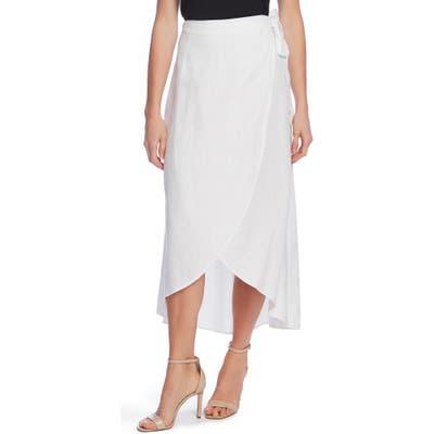 Vince Camuto Linen Wrap Skirt, White