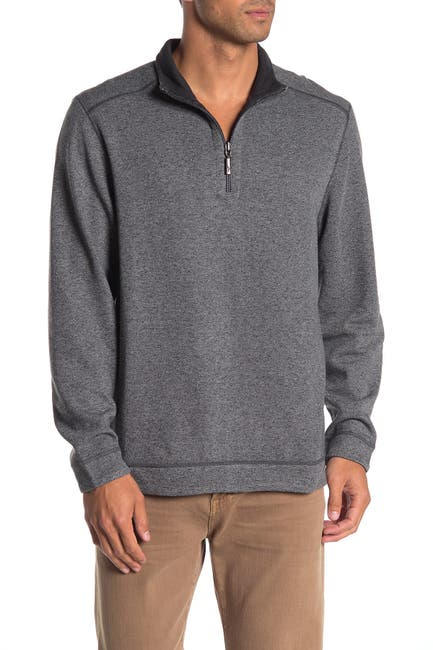Image of Tommy Bahama Half Zip Reversible Pullover Sweater