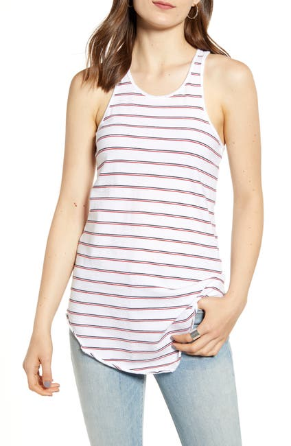 Image of FRANK & EILEEN Lab Base Striped Racerback Tank Top