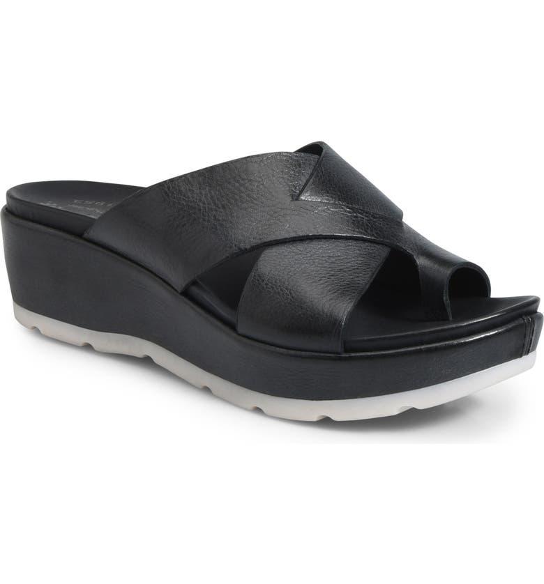 KORK-EASE<SUP>®</SUP> Baja Sport Slide Sandal, Main, color, BLACK LEATHER