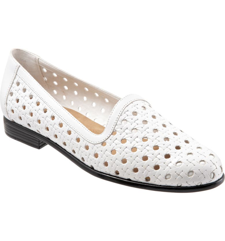 TROTTERS Liz Loafer, Main, color, WHITE LEATHER