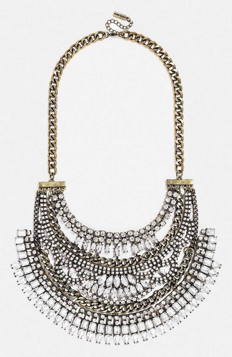 BAUBLEBAR 'Crystal Cleopatra' Bib Necklace, Main, color, 710