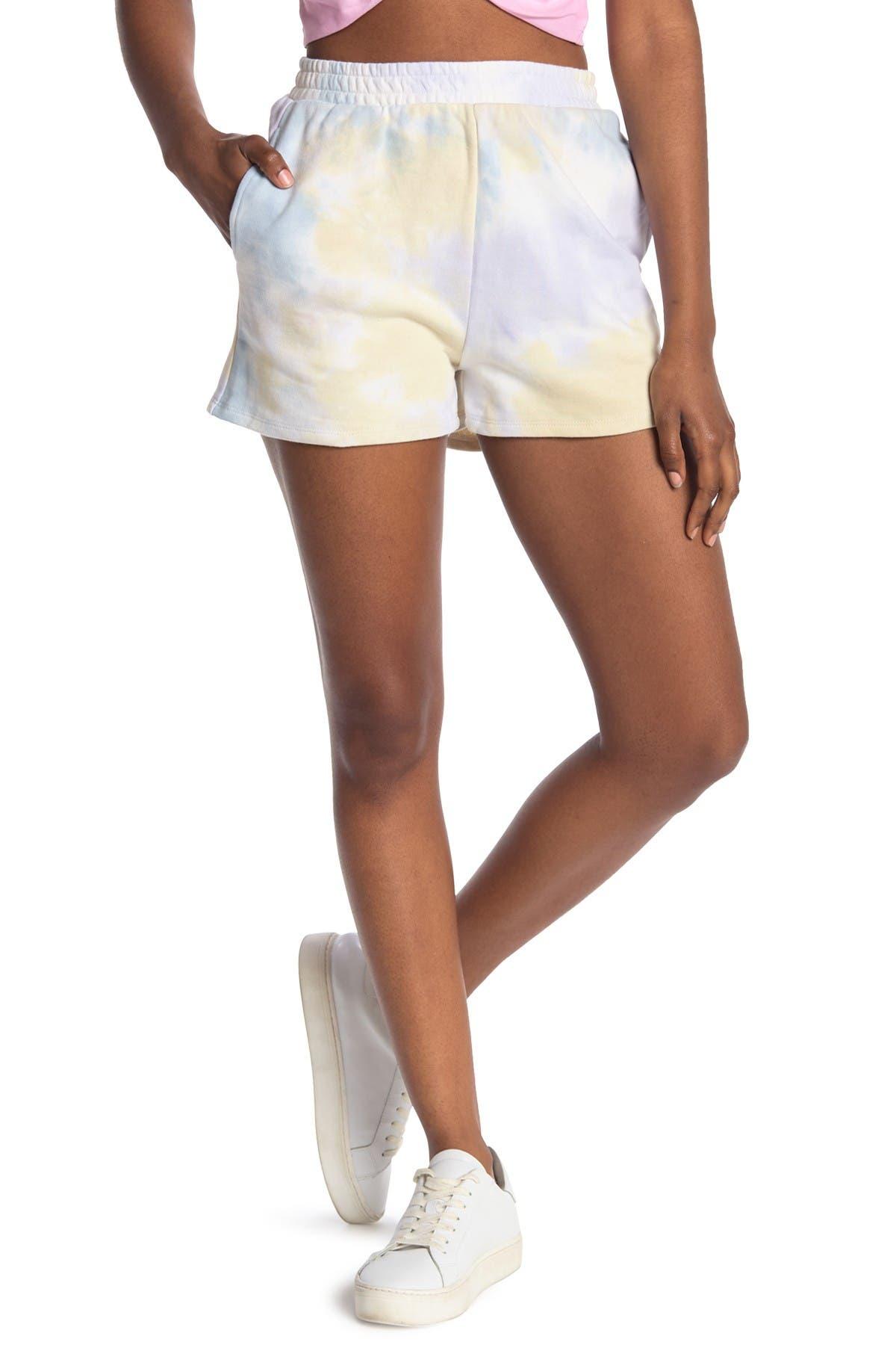 Image of Elodie Tie Dye Knit Shorts