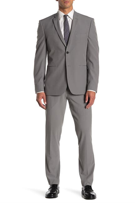 Image of Perry Ellis Solid Very Slim Fit Performance Tech 2-Piece Suit