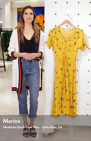 Billie Floral Tie Sleeve Midi Dress, sales video thumbnail