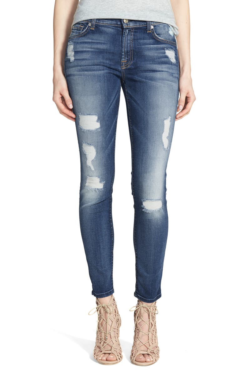7 FOR ALL MANKIND<SUP>®</SUP> b(air) Ankle Skinny Jeans, Main, color, 403
