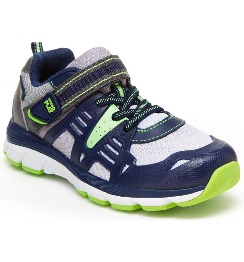STRIDE RITE Made 2 Play<sup>®</sup> Ashton Sneaker, Main, color, NAVY/ LIME