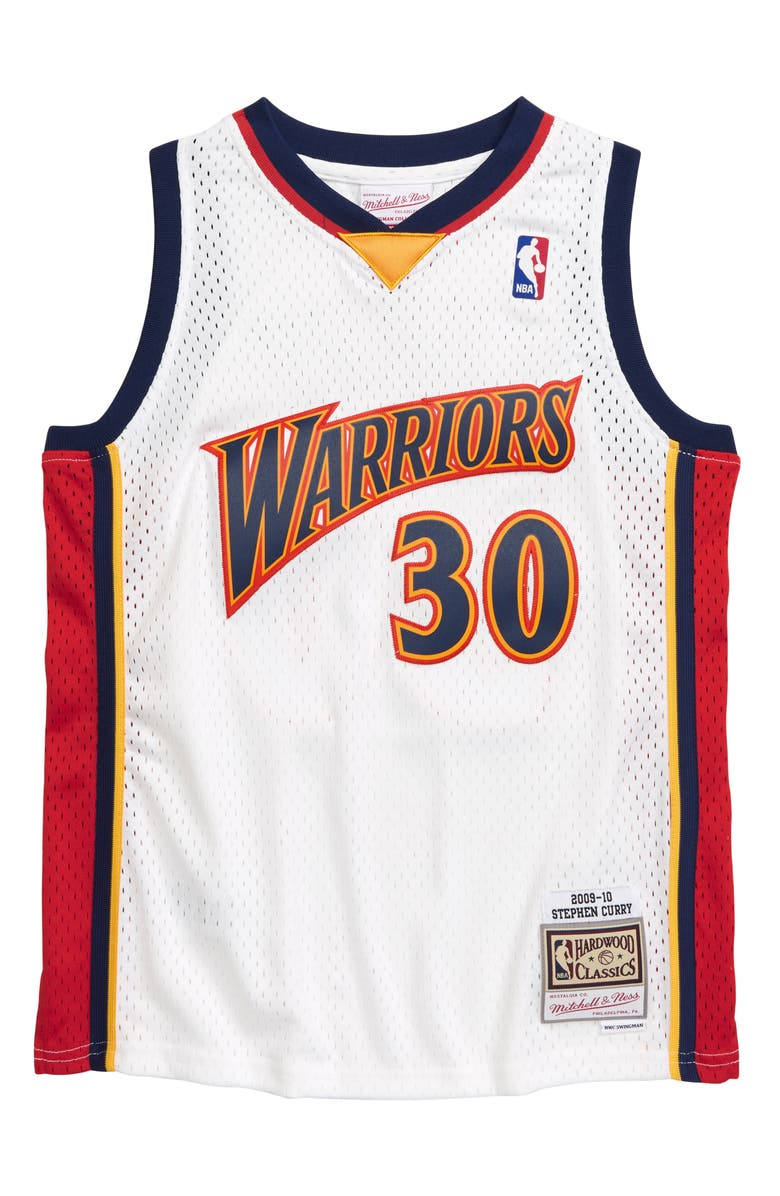 MITCHELL & NESS Stephen Curry Swingman Basketball Jersey, Main, color, WHITE
